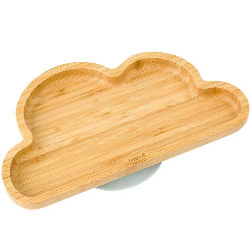 Baby Kleinkind Cloud Teller mit Saugnapf, Grau