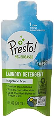 Presto! 96% Biobased Concentrated Liquid Laundry Detergent