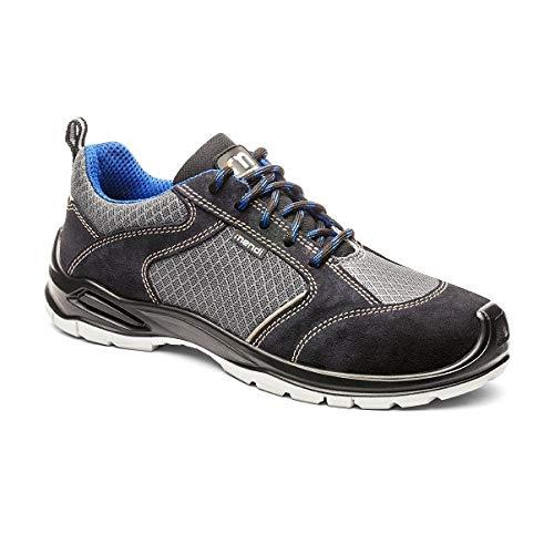 Zapatillas de Seguridad Resistencia eléctrica para Hombre y Mujer/Zapato de Trabajo Comodos con Puntera Reforzada en Fibra de Vidrio (no Acero) Calzado Laboral Antideslizantes (Numeric_43)