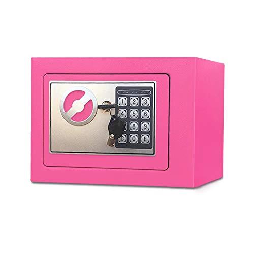 Cabinet Safes Münzbetätigter Safe 17E kleines All-Stahl-Passwort-Haus-Mini-Safe (Color : B)