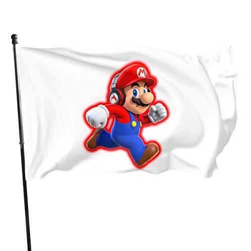 Shenhui Super Mario Garten Flagge,3x5 Ft?150cm X 1487cm?, Frühling, Sommer, Herbst, Garten, Willkommen Hof, Outdoor Decor Garden Flag
