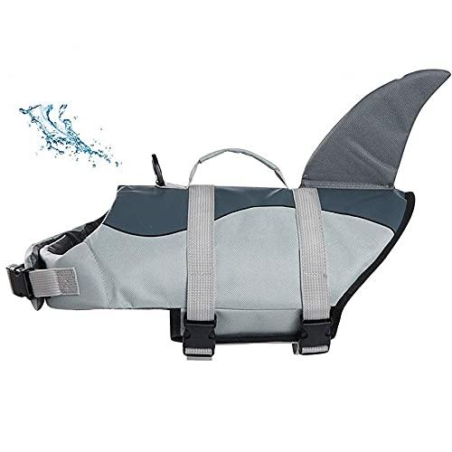 JINQIANSHANGMAO Chaleco Salvavidas para Perros Chaleco de Seguridad para Mascotas Perro Ajustable Lifesaver Pey Life Freserver con asa de Rescate (Color : Shark Vest, Size : XL)