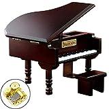 Brain Game Gowsch Boîte à musique décorative pour piano Rouge vin