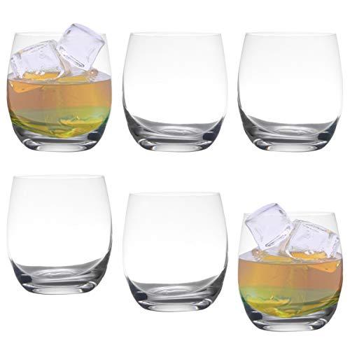 Jogo de Copos para Whisky Bohemia modelo Pollo em Cristal 410 ml - 6 peças