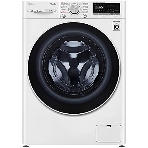 LG V5105SE 10,5 kg Frontlader Waschmaschine, 1400U/Min, TurboWash, Kindersicherung, Add Item, weiß