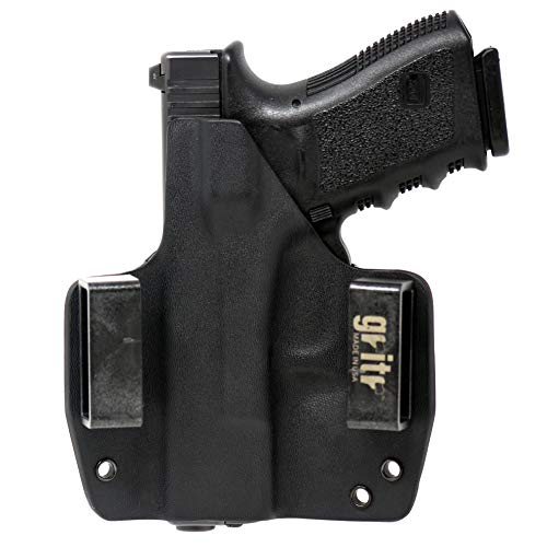 Gritr Holsters Universal Holster for Glock 17, 19, 22, 23, 26, 27, 31, 32, 33 (Gen 1-5) - OWB Holster - Outside The Waistband, Made in USA, KYDEX, Right Hand