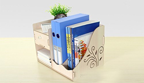 Bureau multifonctionnel Bureau Boîte de rangement Livre Tiroir d'étagère Papier A4 Papier de documents Papeterie Cadre de données Bois (couleur : Blanc)