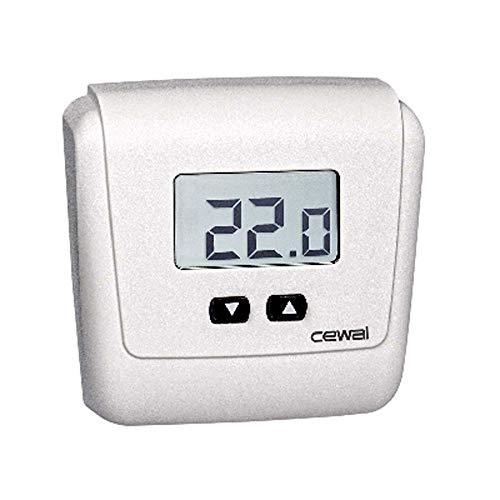 CEWAL Termostato eléctrico de Pared ET05 Blanco