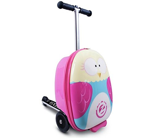 Flyte NEW Olivia The Owl Midi Case Scooter Easily Folds Out From A Travel Case