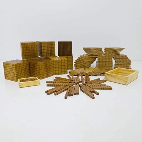 Material Dourado do Professor - 611 peças - Caixa em Madeira, Supertela Artefatos de Madeira, 1000