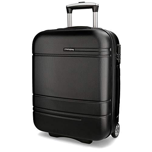 Movom Galaxy Maleta de cabina Negro 39x55x20 cms Rígida ABS Cierre TSA 38L 2,7Kgs 2 Ruedas Equipaje de Mano