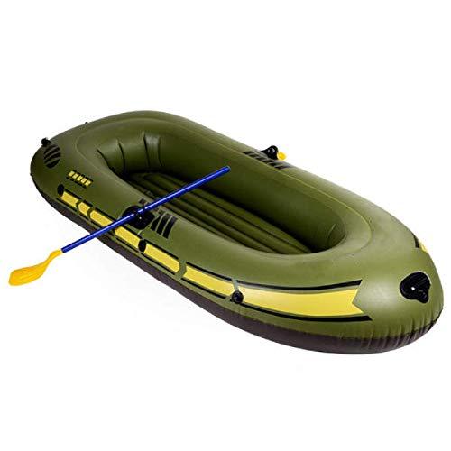 Barco inflable de 150 x 90 cm - 230 x 140 cm portátil inflable barco de remo de PVC, barco de pesca para buceo, surf, deriva inflable (tamaño: 002; color: al azar)