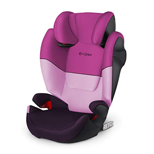 Cybex Silver Solution M-fix 519001119 Silla de Coche, Grupo 2/3, para Niños, para Coches con y sin Isofix, Colección Color 2021, Morado (Purple Rain)