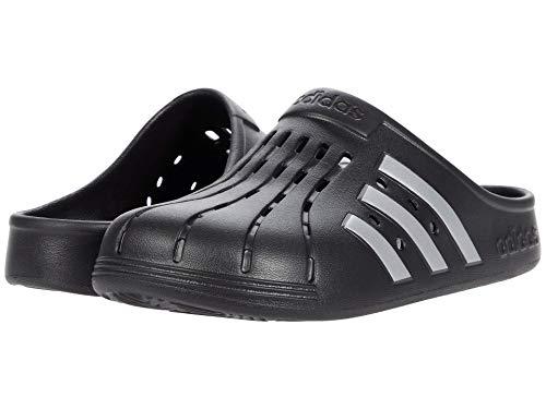 adidas Unisex Adilette Clog Slide Sandal, Black/Silver Metallic/Black, 7 US Men