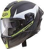 Caberg Drift EVO Carbon Casco para Moto, Hombre, Amarillo, L