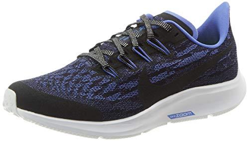 Nike Air Zoom Pegasus 36 GL GS, Scarpe da Corsa, Black/Black/Sapphire/White, 37.5 EU