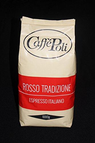 Poli Caffé Espresso - BAR Rosso Tradizione, Bohnen - 20 x 1 kg, Café, Kaffee