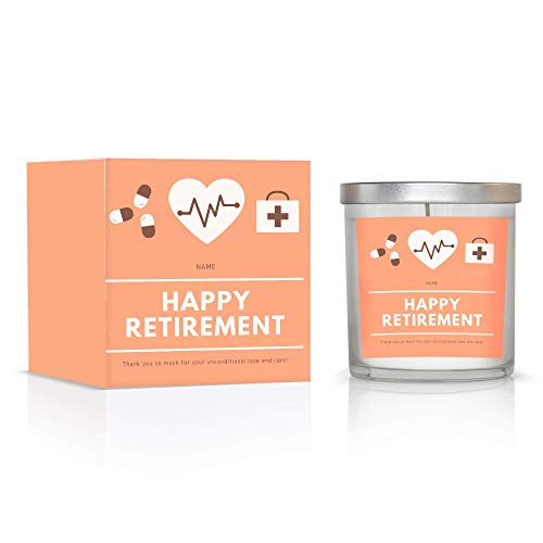 Personalized Retirement Gift for nurse, Colleagues, Leave Job, Coworkers, party, men, women, candle, doctor, dentist, hospital, vet, health