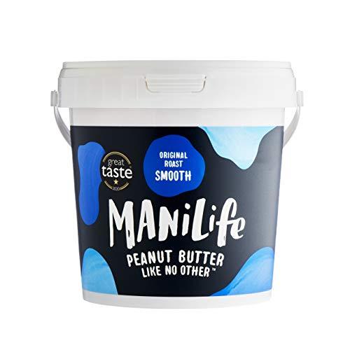 ManiLife Beurre de Cacahuète - Peanut Butter - Entièrement Naturel, dOrigine Unique, sans Sucre Ajouté, sans Huile de Palme – Originale Crémeux (1 x 1kg)
