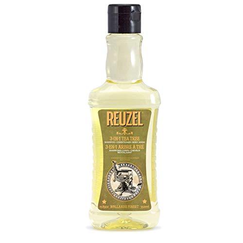 Reuzel - 3-In-1 Tea Tree Shampoo - Shampoo Conditioner & Body Wash - Beruhigt die Haut und befeuchtet die Kopfhaut - Keine Rückstände - Mit Spearmint-Duft - Reinigt von Kopf bis Fuß - 11.83 oz/350 ml