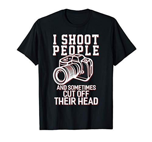 I Shoot People divertido regalo de los Fotógrafos Camiseta