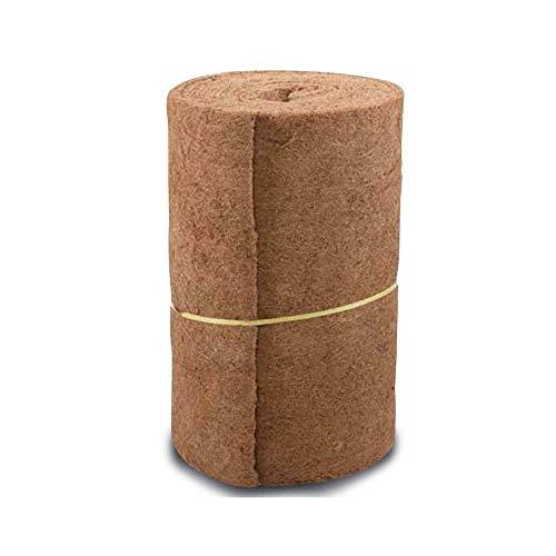 DAYOLY Blumentopf-Kokosmatte Pflanzen, Natürliche Kokosnuss-Zwischenlagenrolle Ersatzliner Eingangsmatte für Hängekorb Wand Pflanzer Gartenterrasse Pflanzer fügt Zwischenlagen