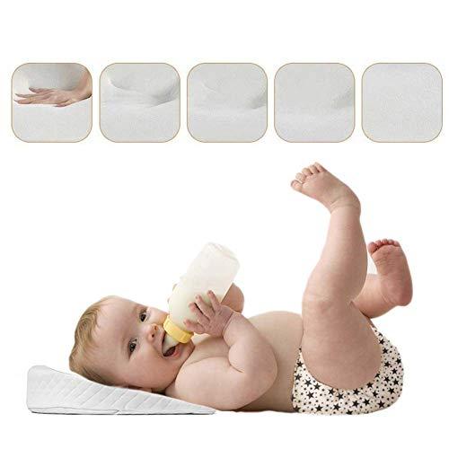 Muitar - Cuscino a cuneo per neonati e neonati, per neonati e coliche e congestioni, universale, per carrozzina, culla e culla, confezione da 2