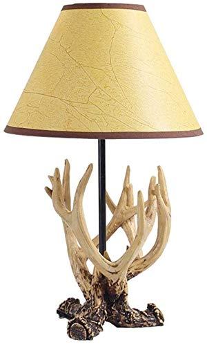 HGDD Lámpara de Piso Cornamenta Base Decorativa lámpara de Mesa, American Country Retro Bar Creativa Muebles for el hogar Decoración AA +