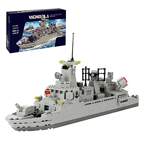 Boys Building Blocks Toy Set, Military Coast Guard Battleship Navy Boat and Ship Warship Destroyer Building Brick Toy Set,528 PCS