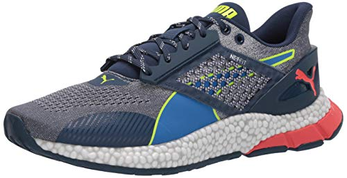 PUMA Men's Hybrid Astro Sneaker, Dark Denim-palace Blue-Yellow Alert, 10.5 M US