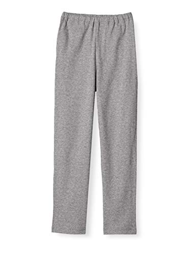 [セシール] ルームパンツ 綿100% 長パンツ無地 NI-389 レディース チャコールグレー M