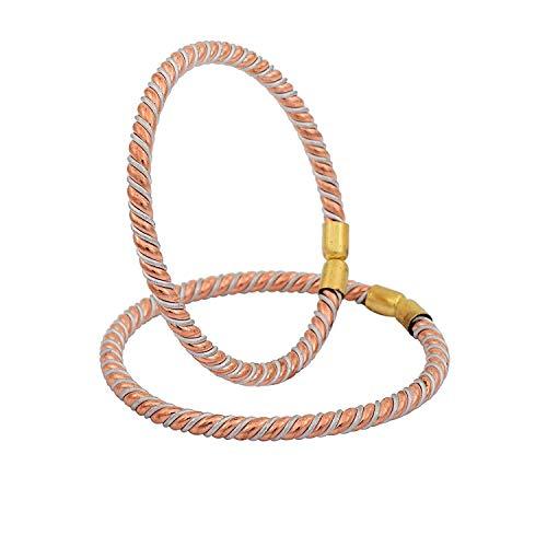 Morir Copper Ashtdhaatu Free Size Kada Bracelet Adjustable Kids Bangle Child Nazariya for Unisex Babies Kids Jewellery -Set of 2 (1 Pair) Borns (0-3yrs)