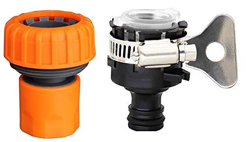 Zeng, connettore per rubinetto multifunzione, da 2,5 cm, adattatore per tubo da giardino, adatto per agricoltura, prato, giardino, irrigazione