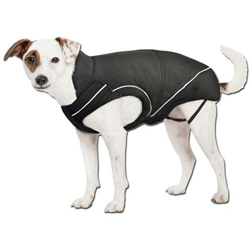 DogBite Hunde Softshelljacke Einfaches An- und Ausziehen nur mit Reissverschluss Rundum Reflektionsstreifen Extrem flexibel im Hals-/ Brustbereich 2-Wege-Reißverschluss für Brustgeschirr