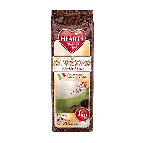 HEARTS Cappuccino White 10 x 1 kg - Genuss nach italienischer Art, ca. 80 Portionen pro Beutel, praktische Familienpackung, intensives Aroma, milchig und cremig