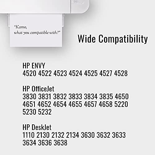 Kamo 302XL Cartuchos de Tinta Compatible con HP 302 302XL HP Envy 4520 4525 4524 4527 4522 4528 Officejet 3833 4658 3834 3830 3831 4654 4650 Deskjet 3630 2130 3636 1110 3633 3632 3638 (1xBk, 1xC,M,Y)