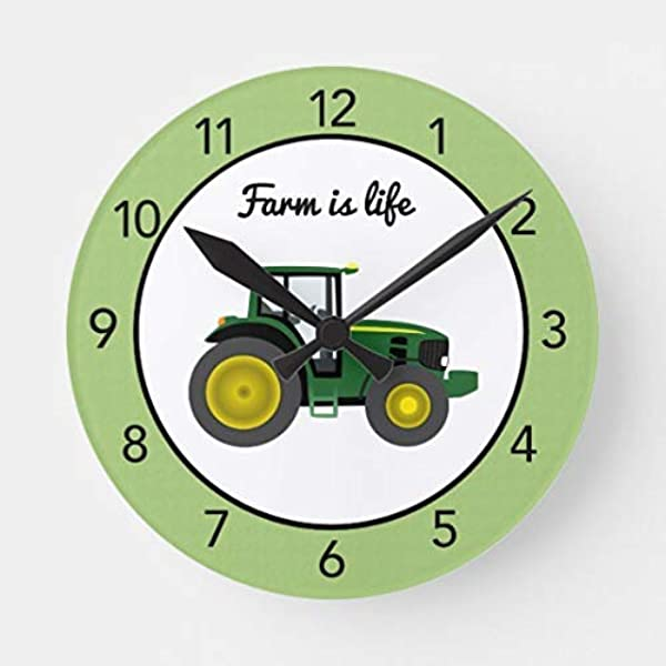 Enidgunter Tractor Farm Is Life Modern Large Wooden Wall Clock 12 Inches