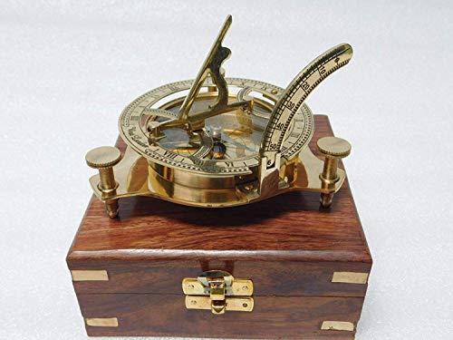 Nautischer 7,6 cm Messing-Kompass Sonnenuhr Maritim nautischen Vintage Antik nautischen Sonnenuhr Kompass