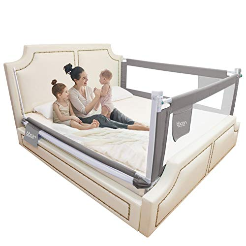 Lowest Prices! LIQICAI Set of 3 Sided Bed Rail for Toddlers Kids Safety Sleep for Crib/Single/Double...