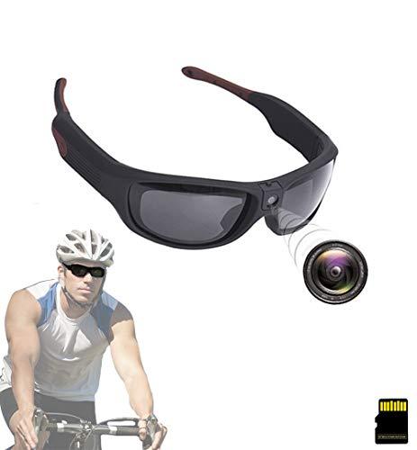 1080P HD Espia Camara Gafas, Minicámara De Vigilancia Oculta, Audio Gafas Cámara Dvr Disparo, 500 Pixeles, Alta Resolución, Al Aire Libre Moda, Videocámara Dv Para Deportes Y Espionaje(64GB)