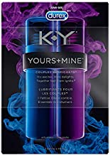 Couples Lubricant, K-Y Yours and Mine Lube for Him and Her, Couples Personal Lubricant and Intimate Gel, 2 Count, 1.5 Fl Oz