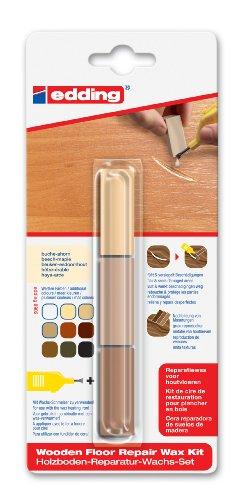 edding 4-8902-1-4611 Holzboden-Reparaturwachs-Set 8902 DIY, buche-ahorn