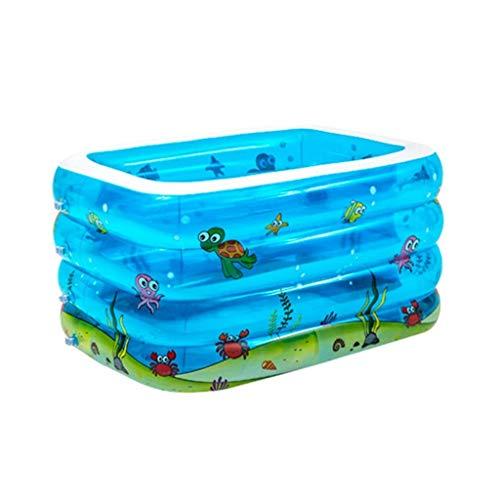 Natación for bebés hinchables piscina, rectangular Family Pool cuatro anillos piscina conveniente for las edades 1+ Ball Pool Toy piscina Family Water Park (Tamaño: 120 * 105 * 75cm) kairui (Tamaño: 1