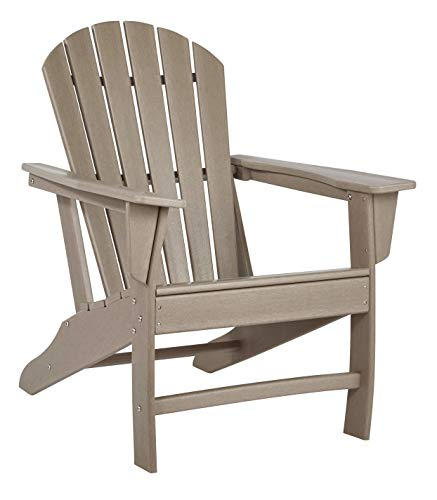 Signature Design by Ashley - Sundown Treasure Outdoor Adirondack Chair - Grayish Brown