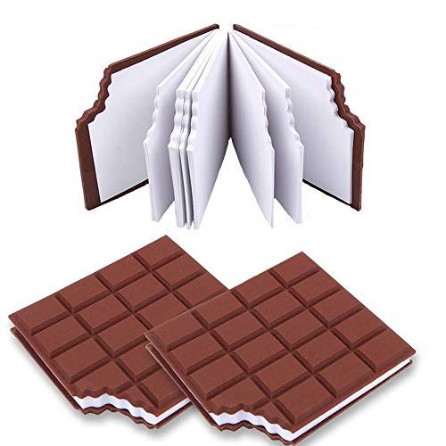 Block Notes LM BOOM 2 pz - taccuino oggetti utili blocco appunti forma cioccolato oggetti particolari blocco note taccuino tascabile per idee regalo - cose utili idee per regali originali particolari
