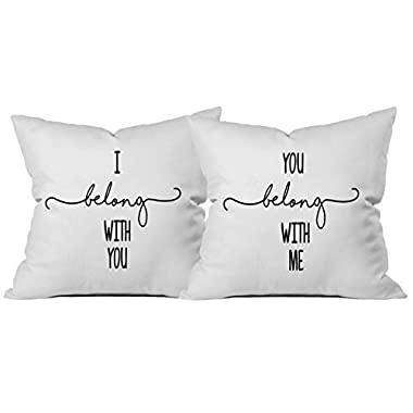 Oh, Susannah I Belong With You You Belong With Me Two 18x18 Inch Throw Pillow Cover Long Distance Relationship Gifts