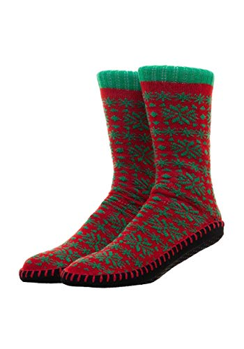Bioworld Merchandising / Independent Sales Mens Christmas Ugly Sweater Knit Slipper Socks Standard