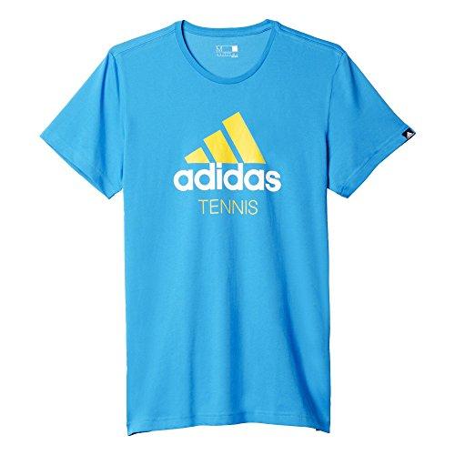 adidas Tennis Maglia da Uomo, Blu (Azusol), 2XL