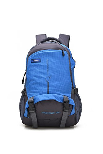 25L petit alpinisme sac à dos extérieur multifonction loisirs portable Pack escalade voyage randonnée équitation sac de loisir pour hommes et femmes 6colors H48 x W33 x T18 CM , blue