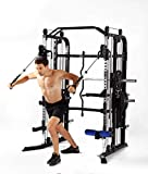 MiM USA Full Gym Equipment Set of Functional Trainer Smith Machine Power Cage All in One Gym Machine...